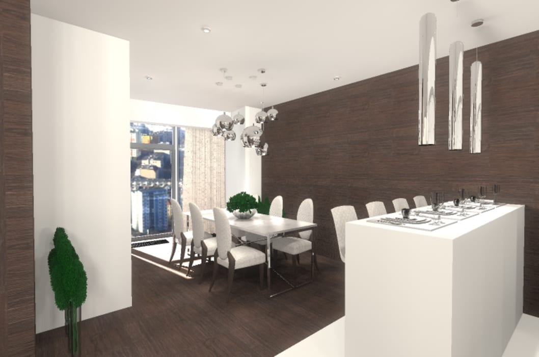 Comedores de estilo moderno de Marta Kożuch Interior Design Moderno