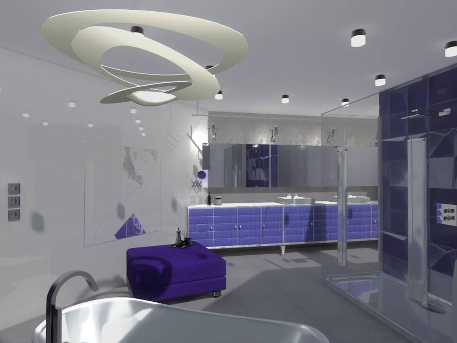 Łazienka Nowoczesna łazienka od Marta Kożuch Interior Design Nowoczesny