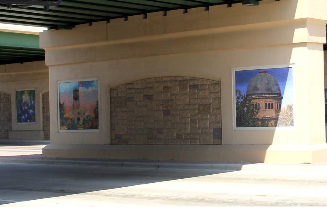 COLLEGE STATION : Pasillos y recibidores de estilo  por alto diseño en  mosaico , Moderno Azulejos