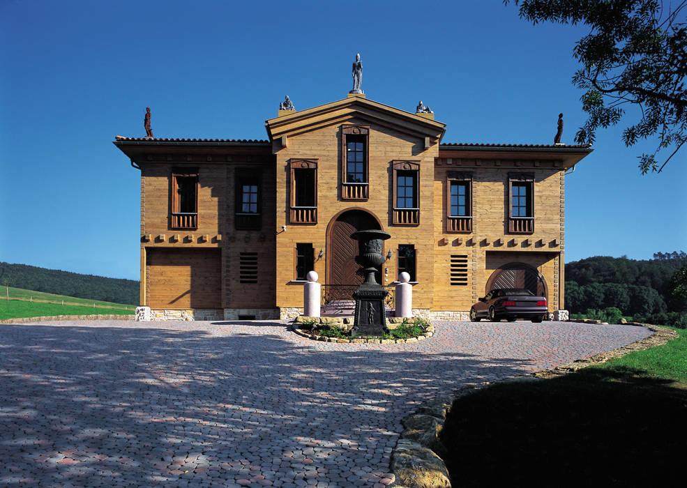 Casas de estilo  por ELK Fertighaus GmbH,