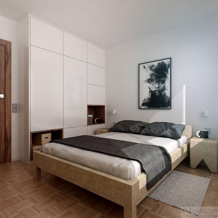 غرفة نوم تنفيذ H+ Architektura, حداثي