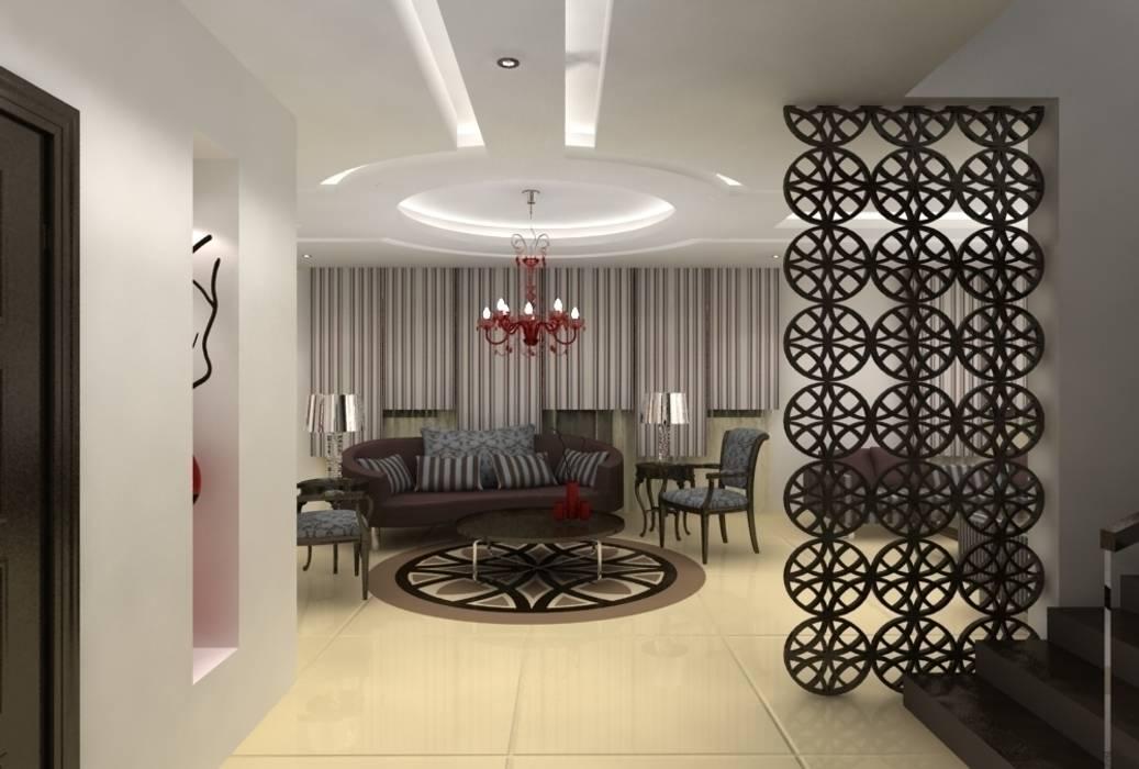 Entrée de la villa: Couloir et hall d'entrée de style  par michel bandaly
