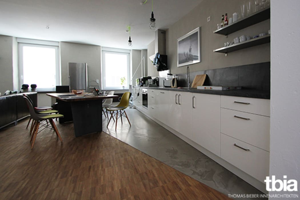 Industrial style kitchen by tbia - Thomas Bieber InnenArchitekten Industrial