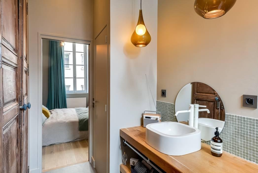 Appartement Paris Salle de bain industrielle par Meero Industriel