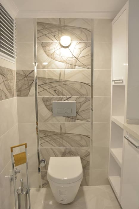 Narlıdere'de Yeni Bir Yaşam, İzmir Minimalist Banyo ACS Mimarlık Minimalist