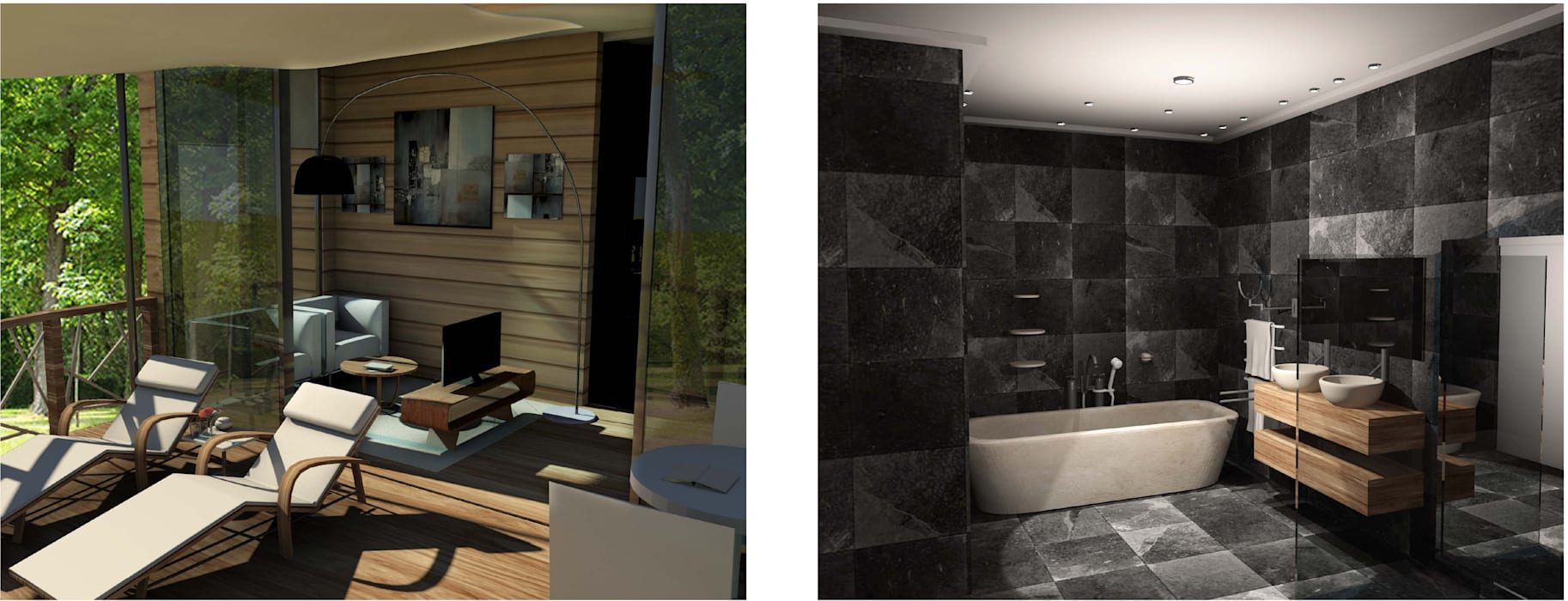 Chambre d'hotel: Hôtels de style  par Sandra & Milena Design
