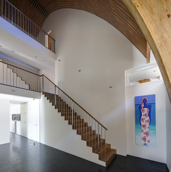 Interieur Moderne gangen, hallen & trappenhuizen van homify Modern