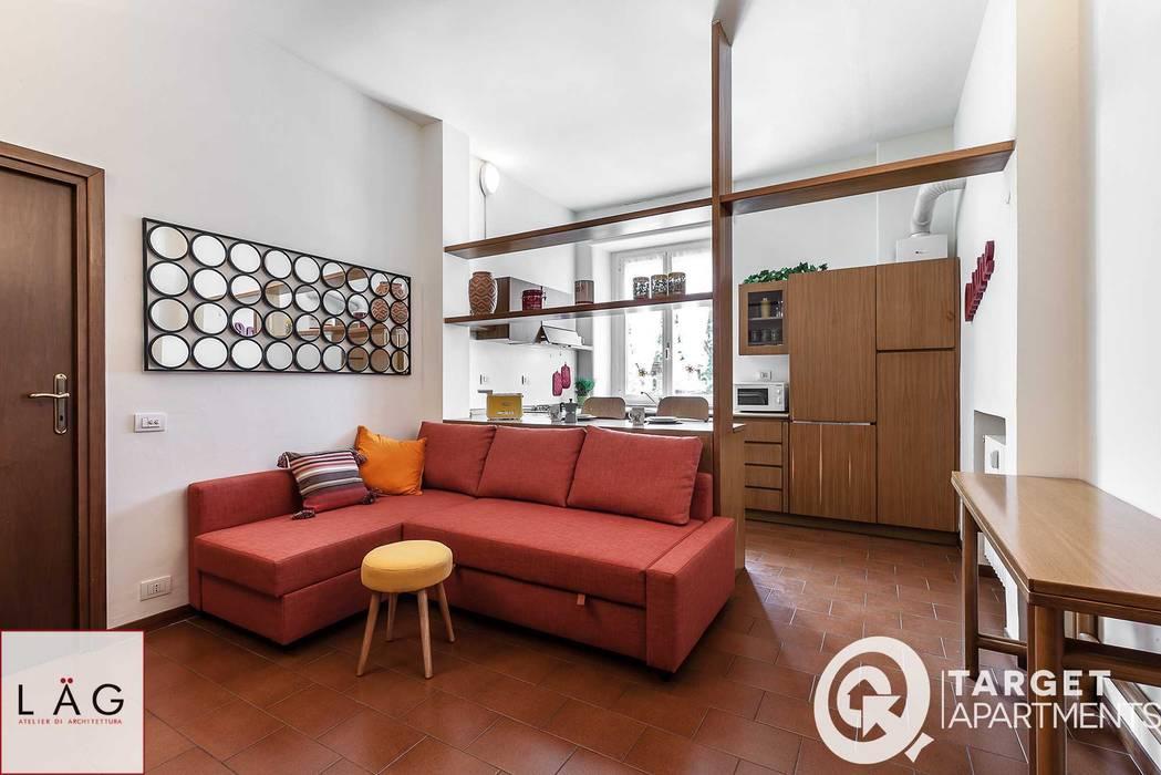 Casa R Soggiorno moderno di Architrek Moderno