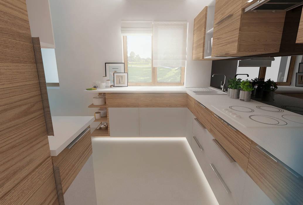 Nowoczesny dom jednorodzinny: styl , w kategorii Kuchnia zaprojektowany przez D2 Studio