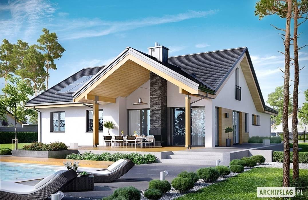Projekt domu Simon G2 Nowoczesne domy od Pracownia Projektowa ARCHIPELAG Nowoczesny