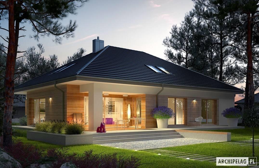 Projekt domu Marcel III G2 Nowoczesne domy od Pracownia Projektowa ARCHIPELAG Nowoczesny