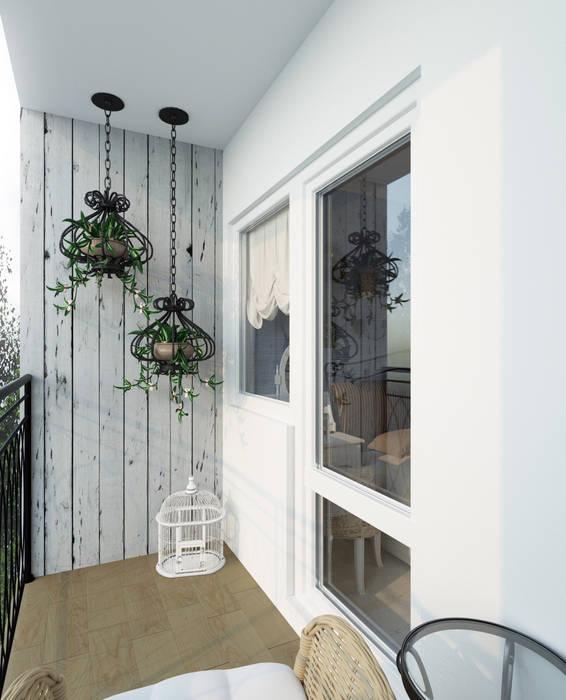 Balcones y terrazas de estilo rural de Krupp Interiors Rural