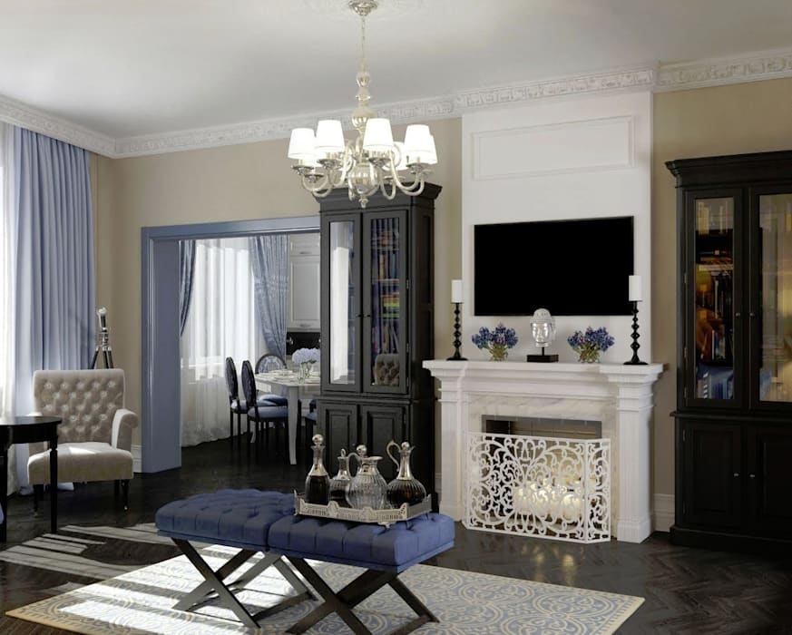Massimos / cтудия дизайна интерьера Classic style living room
