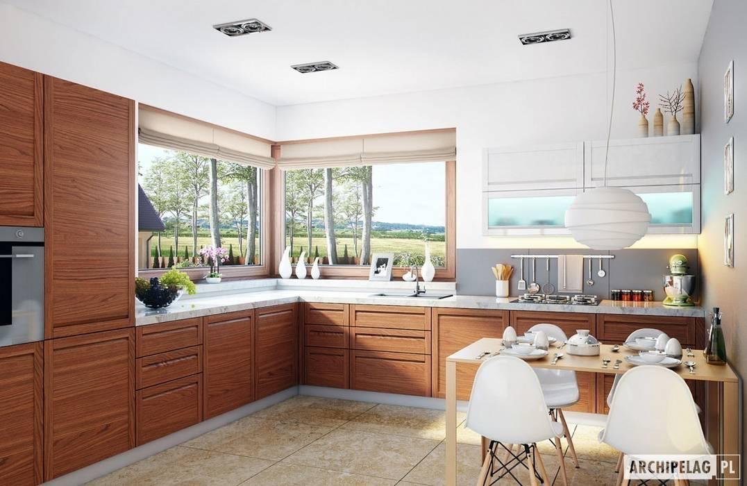 Cocinas de estilo moderno de Pracownia Projektowa ARCHIPELAG Moderno