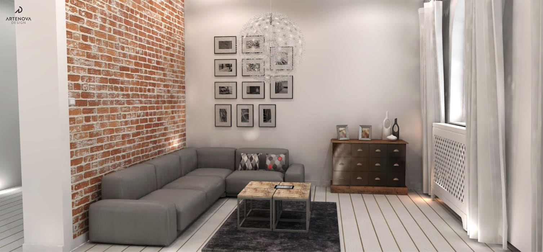 Salon rustique par Artenova Design Rustique