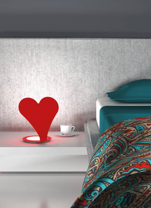 EMOTICON HEART ROSSO Luxelt Camera da lettoIlluminazione