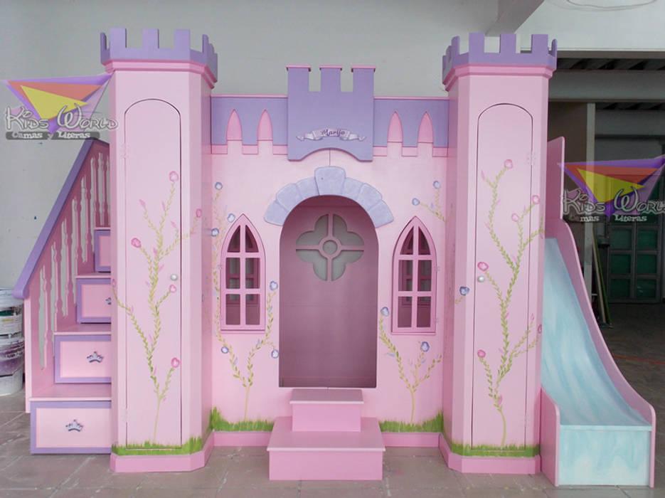 Hermoso castillo para princesas de estilo por camas y - Camas infantiles de princesas ...
