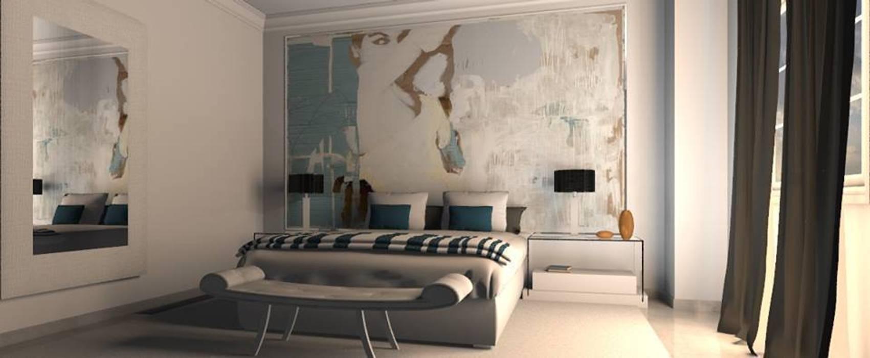 Modern style bedroom by AZD Diseño Interior Modern