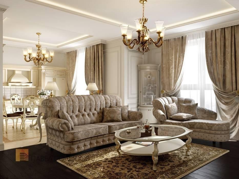 Гостиная: Гостиная в . Автор – Студия Павла Полынова, Классический