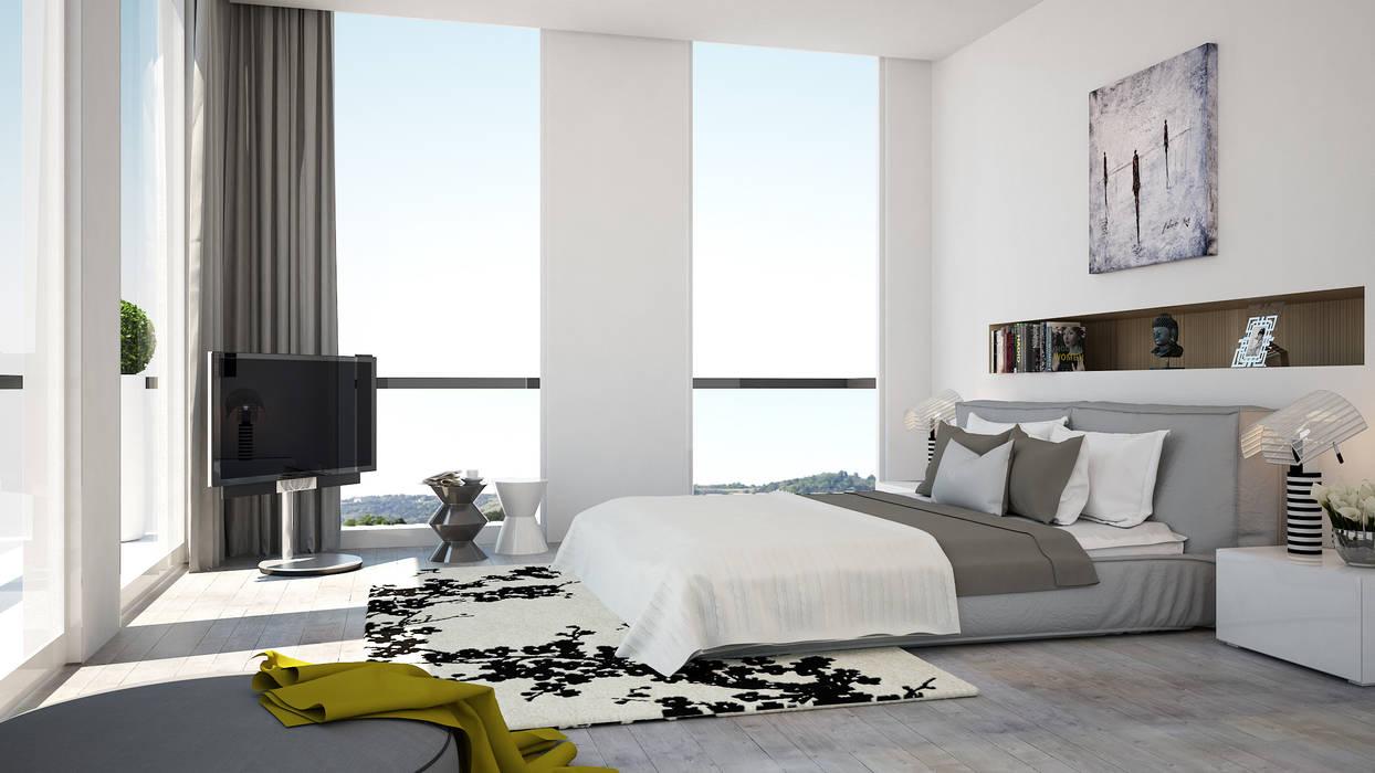 Modern style bedroom by olivia Sciuto Modern