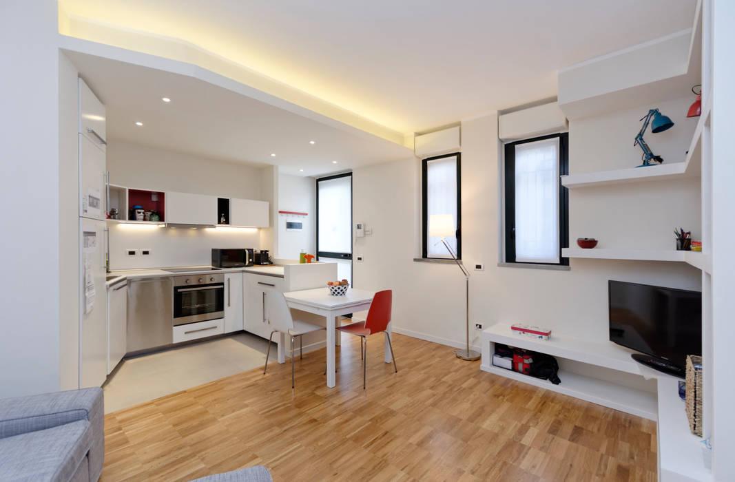 LA ZONA LIVING Soggiorno moderno di ROBERTA DANISI architetto Moderno Legno Effetto legno