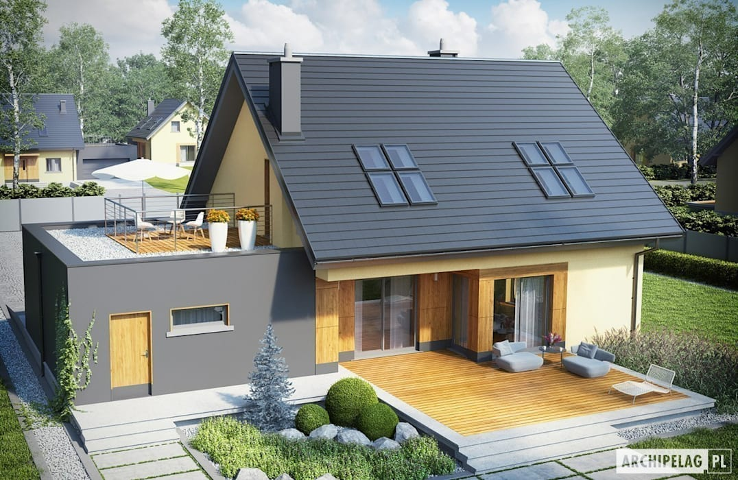 Moderne Garagen & Schuppen von Pracownia Projektowa ARCHIPELAG Modern