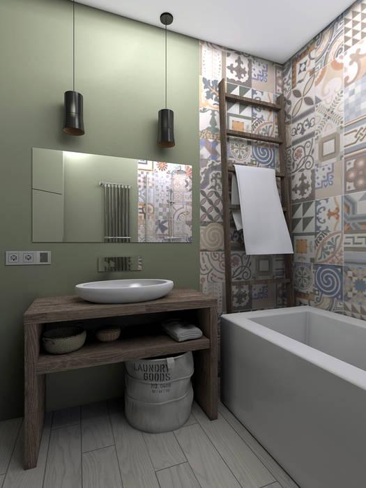 Квартира в стиле лофт Ванная в стиле лофт от ИНТЕРЬЕР-ПРОЕКТ.РУ Лофт