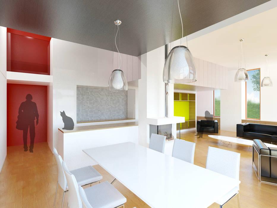 Vue du coin repas: Salle à manger de style de style Moderne par 3B Architecture
