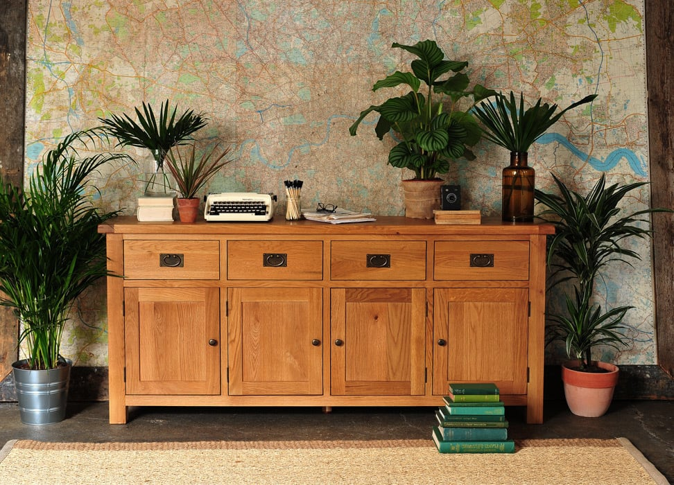 Lyon Oak Extra Large Sideboard par The Cotswold Company Rural