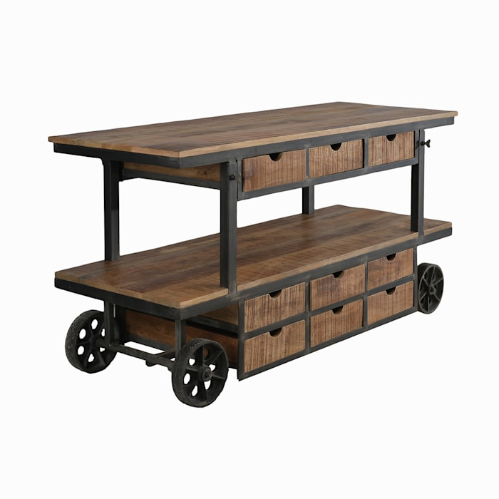 Gorgeous Kitchen and Bar Trolleys: rustic  by The Yellow Door Store,Rustic