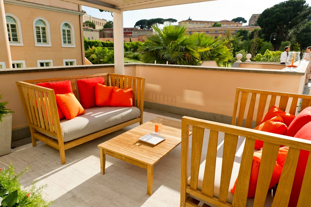 studiomartino.5 Mediterranean style balcony, veranda & terrace