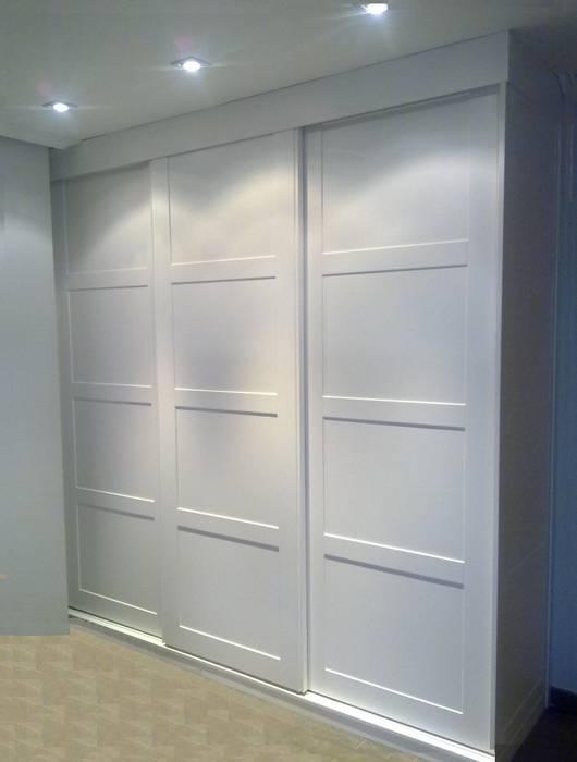 Armario puerta japonesa lacado en blanco de estilo - Muebles los pepotes ...