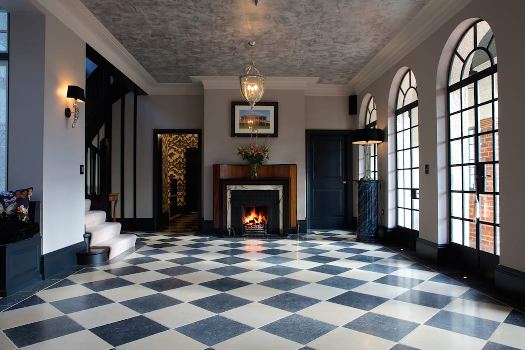 Tora Blue Limestone floor tiles in a tumbled finish. by Artisans of Devizes Classic
