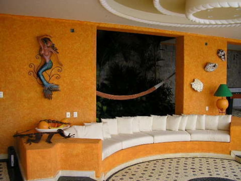 Sala Abierta: Terrazas de estilo  por ARQUELIGE, Tropical