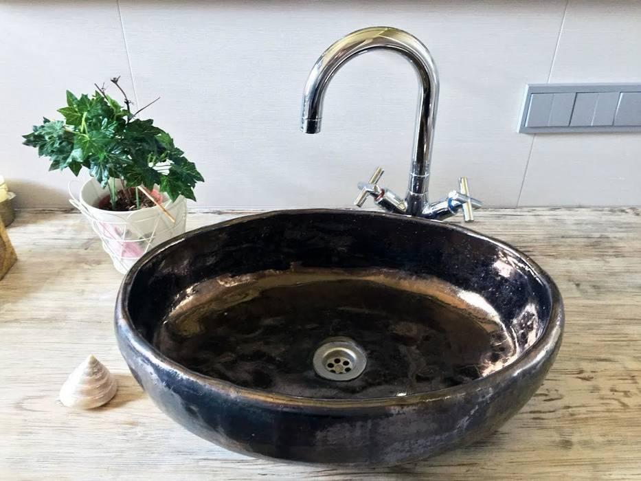 owalna umywalka robiona ręcznie: styl , w kategorii Łazienka zaprojektowany przez dekornia