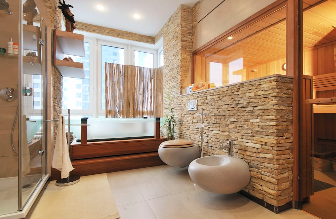 Asian style bathroom by Sky Gallery Asian