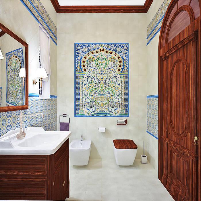 Восток: Ванные комнаты в . Автор – AbcDesign, Азиатский