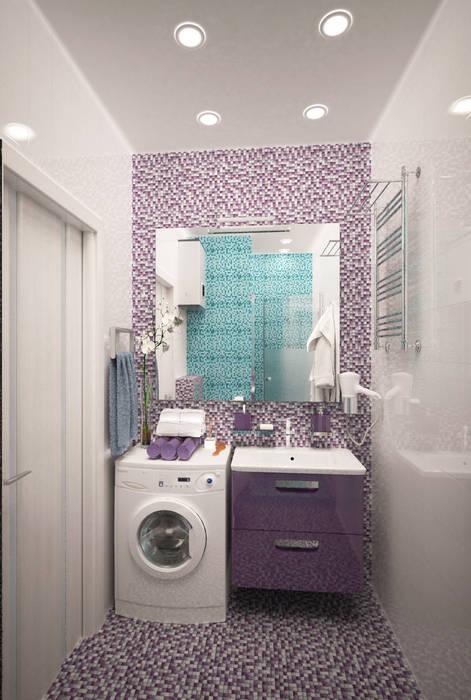Из однушки - двушка: Ванные комнаты в . Автор – Гурьянова Наталья, Модерн