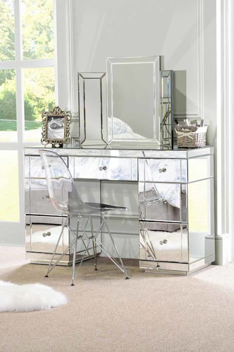 Valeria Mirrored Dressing Table od My Furniture Klasyczny