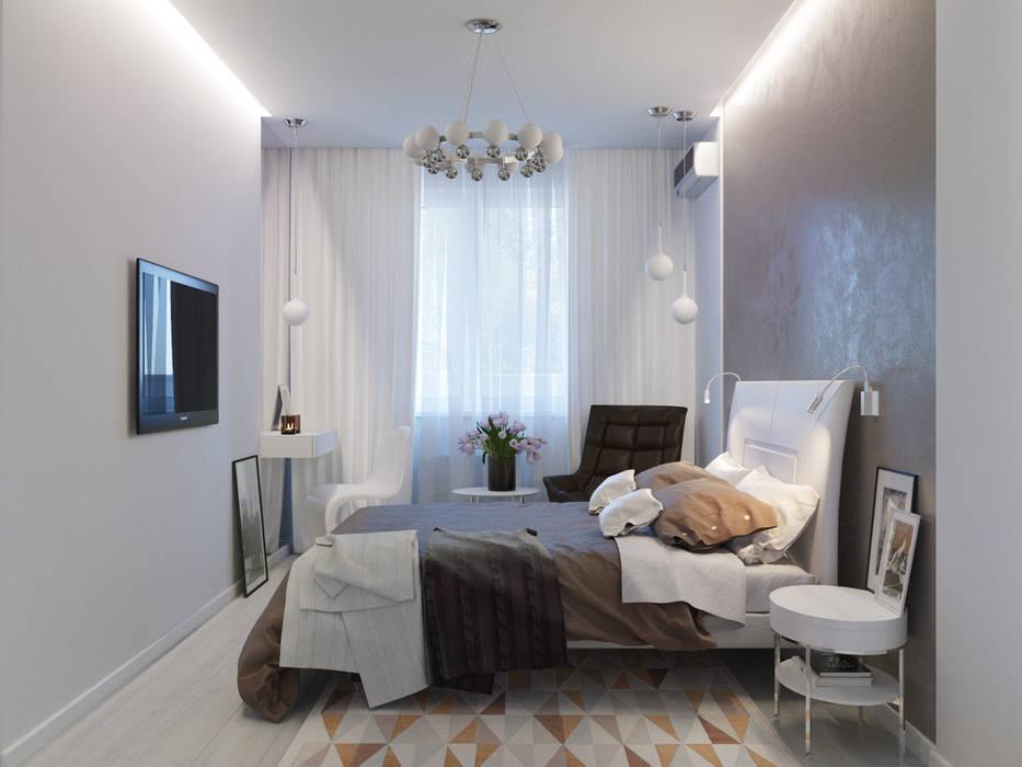 Квартира для современной пары Оксана Мухина Спальня в стиле минимализм