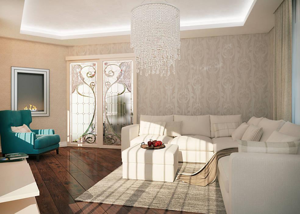 Salones de estilo clásico de Виталия Бабаева и Дарья Дикая Clásico