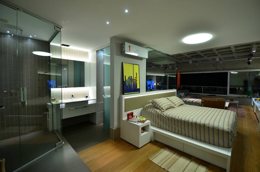 Suite Casal HECHER YLLANA ARQUITETOS Quartos industriais