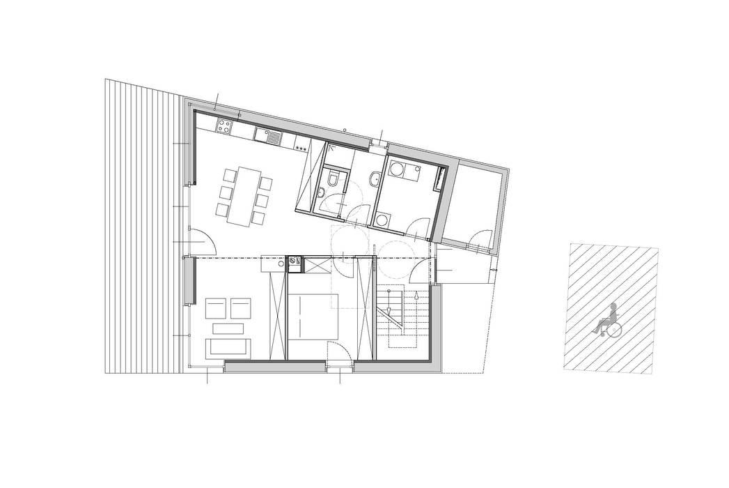 Grundriss Erdgeschoß Symbios Architektur