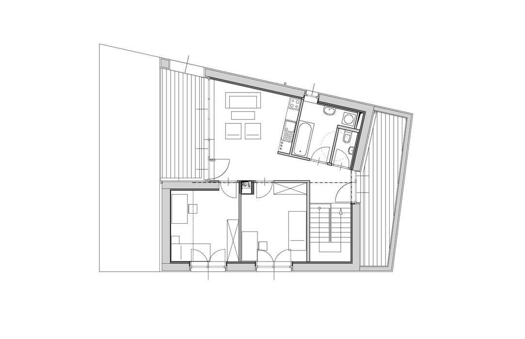 Grundriss Obergeschoss Symbios Architektur