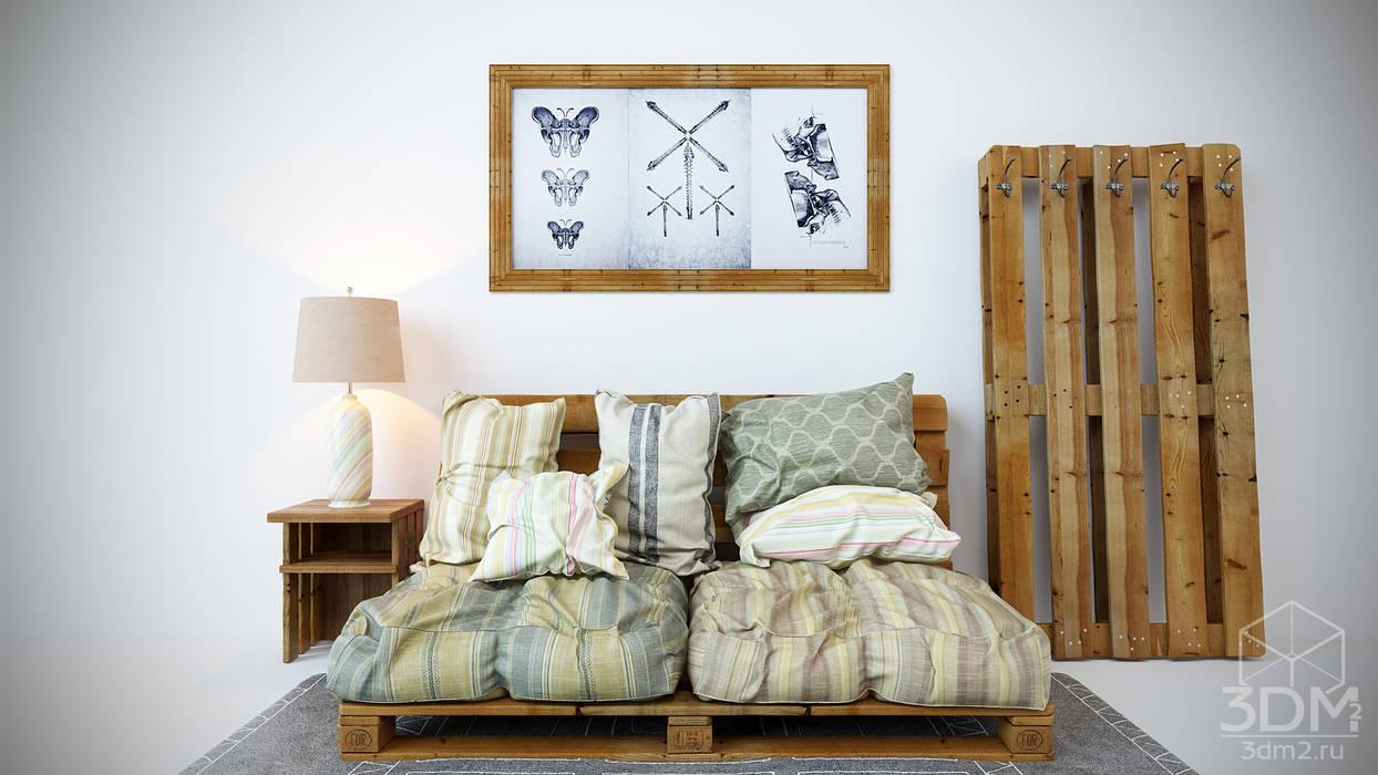 студия визуализации и дизайна интерьера '3dm2' BedroomBeds & headboards