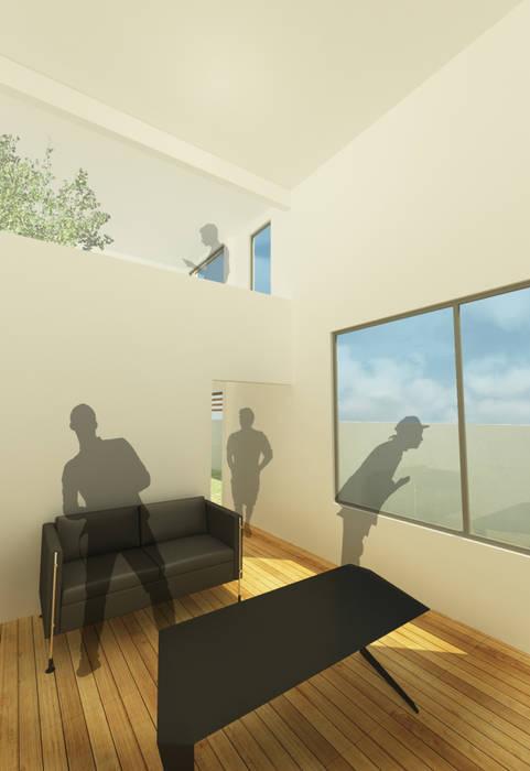 Casa I: Salas de estilo minimalista por ODRACIR