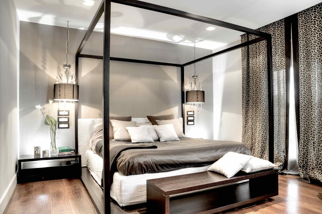 Ernesto Fusco Modern style bedroom Wood Beige