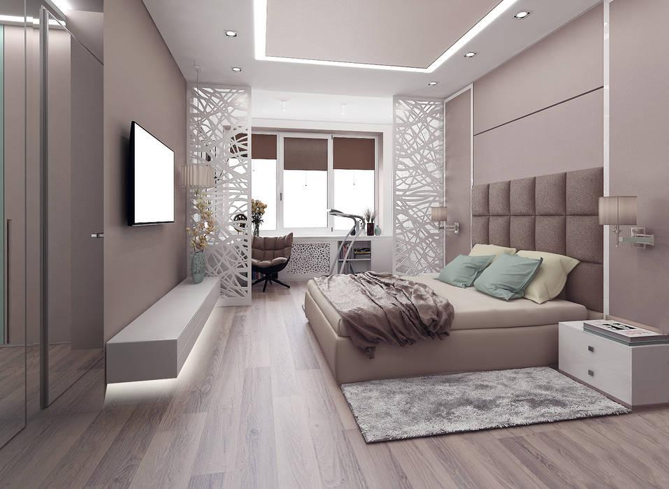 Bedroom by ООО 'Студио-ТА', Eclectic