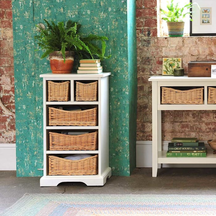 Farmhouse Ivory 5 Drawer Chest Country style bedroom by The Cotswold Company Country Wood Wood effect