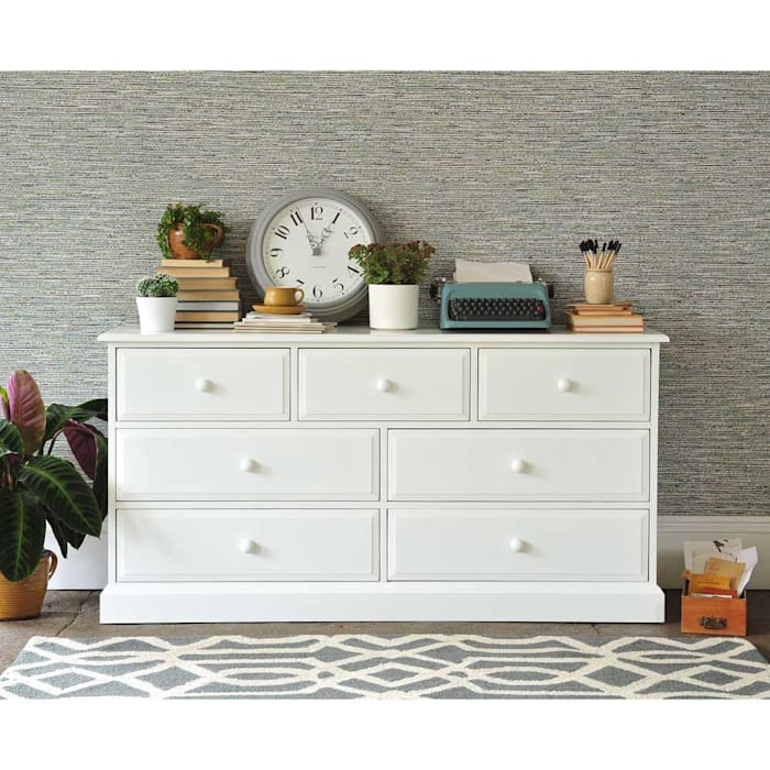 Burford 3+4 Drawer Chest The Cotswold Company 臥室 木頭 White